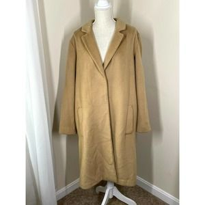 H&M Women Casual Trench Coat Jacket Oversized Brown Size 12